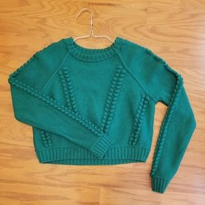 Milly cropped sweater green large